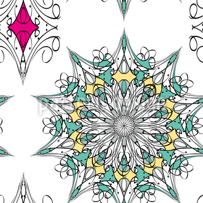 Transformation Seamless Vector Pattern