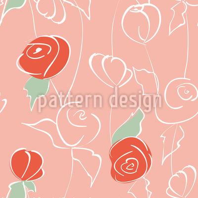 Nostalgischer Rosengarten Vektor Design