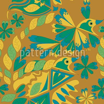 Künstlerischer Vogel Musterdesign