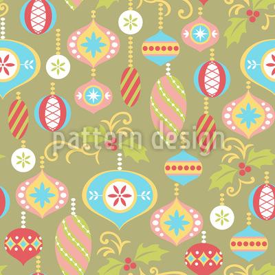 Dekorative Weihnacht Rapportiertes Design