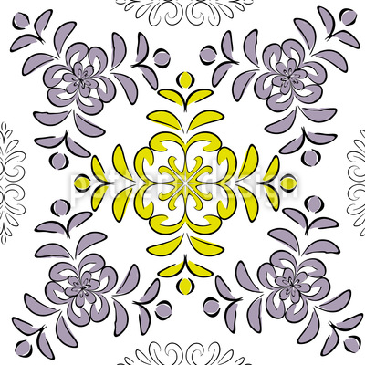 Floral Geometry Repeat Pattern
