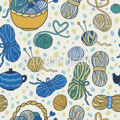 Ich Liebe Stricken Muster Design