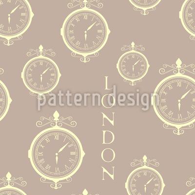 London Timezone Seamless Vector Pattern