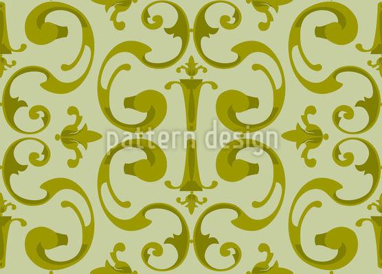Baroque Volutes Seamless Vector Pattern Design