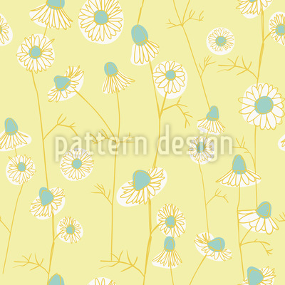 Chamomile Seamless Vector Pattern Design