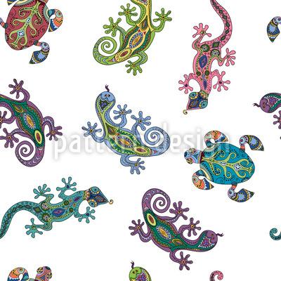 Kleine Kreaturen Nahtloses Vektormuster