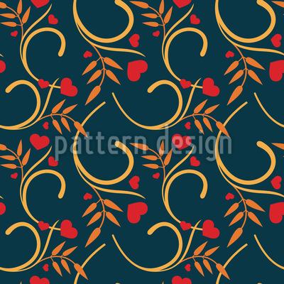 Liebe Zur Natur Vektor Muster