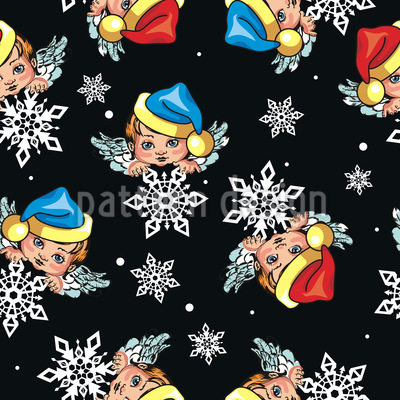 Angels And Snowflakes Vector Design