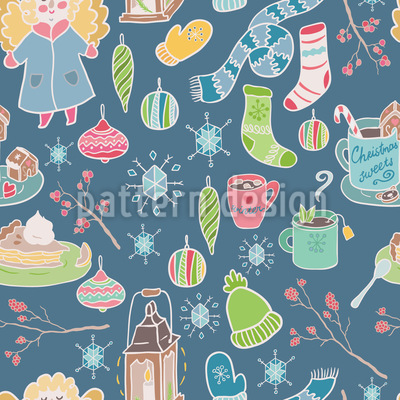 Winter Time Repeat Pattern