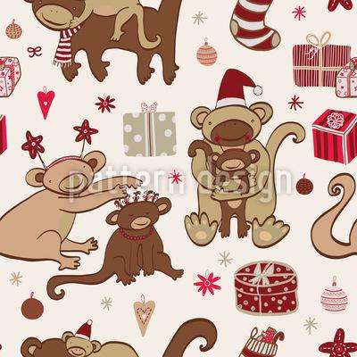 Affige Weihnachten Rapportiertes Design