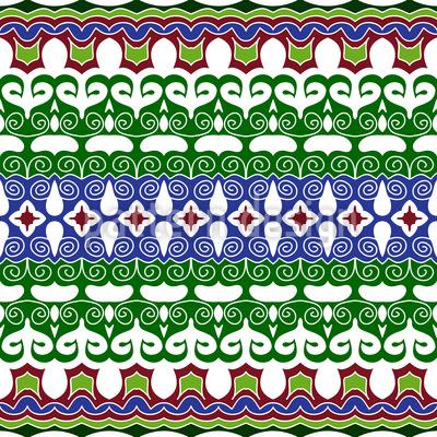 Oriental days Seamless Pattern