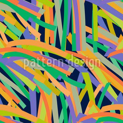 Streifen Dschungel Nahtloses Vektor Muster