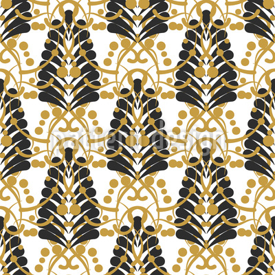 Damask Leaf Seamless Vector Pattern Design