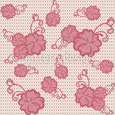 Renda Hibiscus Design de padrão vetorial sem costura