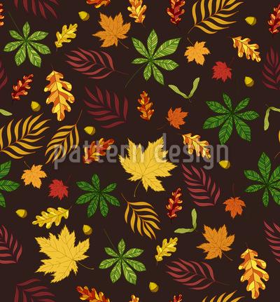 Ich Mag Blätter Nahtloses Vektor Muster
