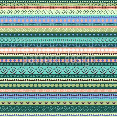 Ethnic Influence Seamless Vector Pattern Design