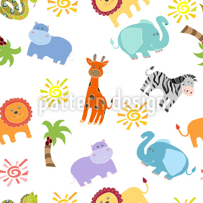 African Animals Pattern Design