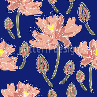 Lotus Flower Dance Vector Ornament