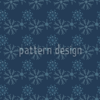 Schneeflocken Bei Nacht Nahtloses Vektor Muster