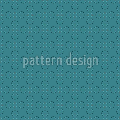 Retro Loops Vector Pattern