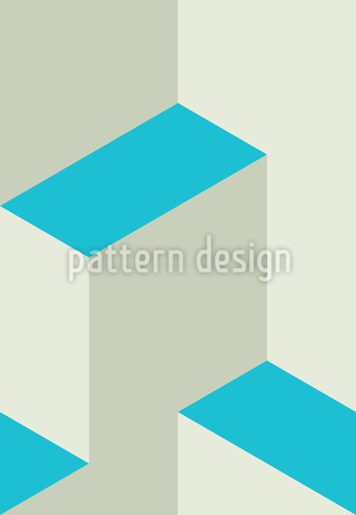 Isometric Steps 3D Seamless Pattern