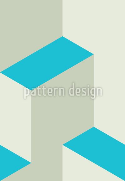 Isometrische Stufen 3D Nahtloses Muster