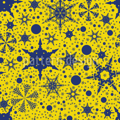 Snowflake Decorations Seamless Vector Pattern Design