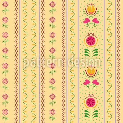 Röschen und Tulpen Musterdesign