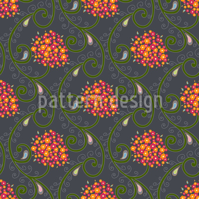 Bohemian Flower Dream Seamless Vector Pattern Design