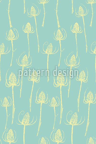 Thistle Silhouettes Pattern Design