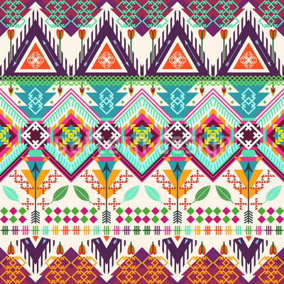 Aztec Tribal Art Repeat Pattern