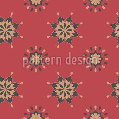 Geo Blumen Vektor Ornament