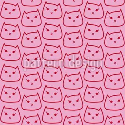 Kätzchen Kätzchen Musterdesign