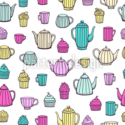 What The Can Pot Can Seamless Vector Pattern