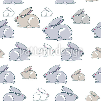 Kaninchen Familie Designmuster