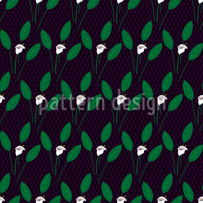 Calla At Night Seamless Vector Pattern