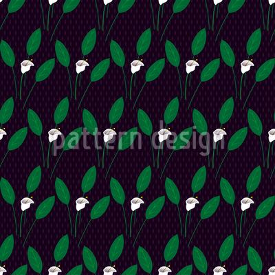 Kalla Bei Nacht Nahtloses Vektor Muster