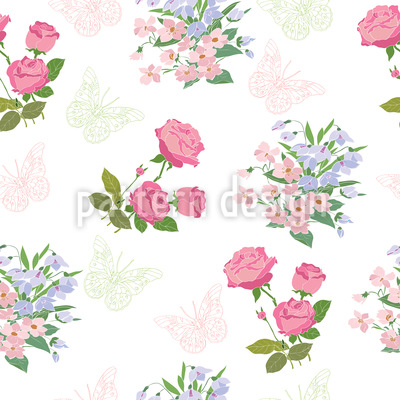 My Dream Garden Seamless Vector Pattern Design