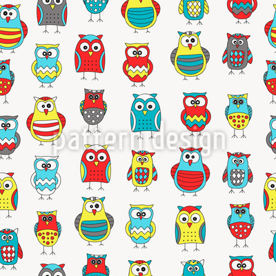 Cartoon Owl Friends Vector Design