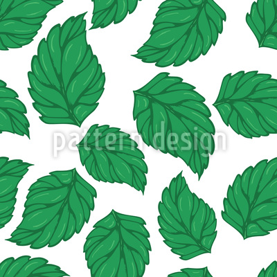 Hop Leaves Seamless Vector Pattern Design