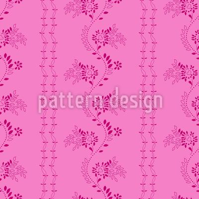 Blumen Auf Deinem Kleid Nahtloses Vektor Muster