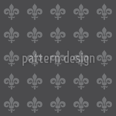Fleur De Lis Grey Seamless Vector Pattern Design