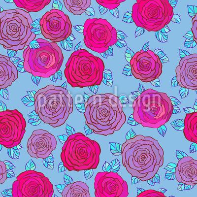 Im Rosen Himmel Rapportiertes Design