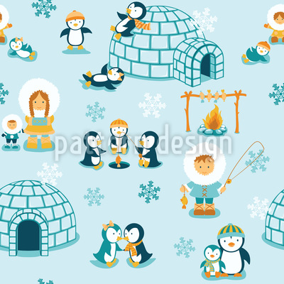 Snowland Family Vector Ornament