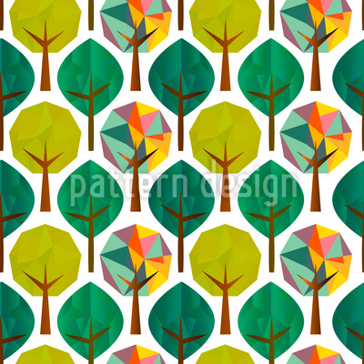 Geometric Trees Repeating Pattern