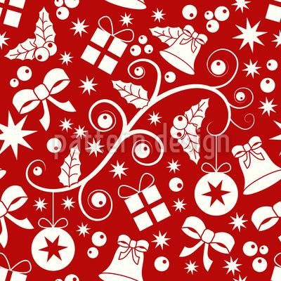 クリスマスの準備 シームレスなベクトルパターン設計