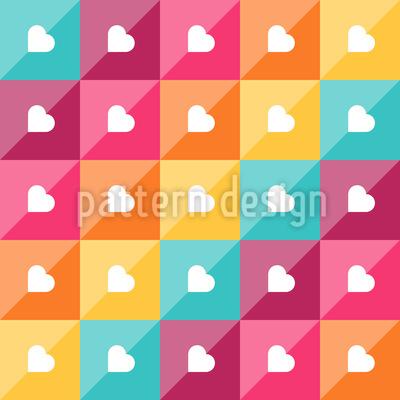 Herzen Diagonal Vektor Ornament