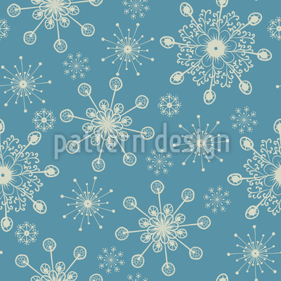 Fantasy Snowflakes Vector Ornament