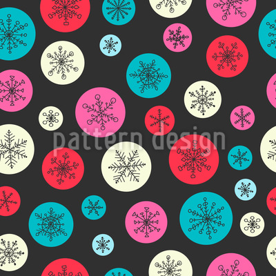 Snowflake Bubbles Pattern Design