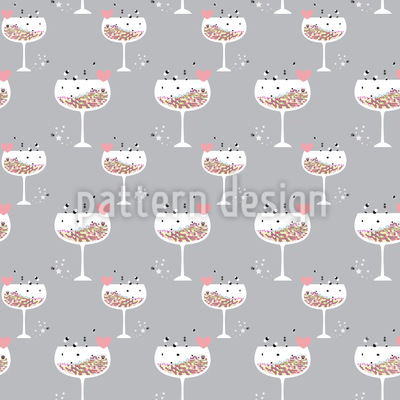 Hexagon Cocktail For Lovers Vector Pattern